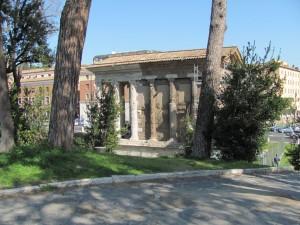 Temple of Portunus - In the Forum Boarium, site of ancient Roman cattle market