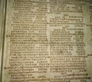 Fasti - list of consuls, Capitoline Museum, Rome (Author photo)