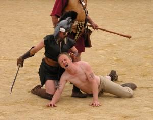 Violence as entertainment - Chester Roman Festival, 2011