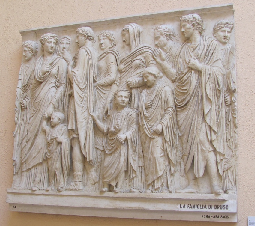 Wall frieze of the family of Drusus, National Museum of Civilisation, Rome (Author photo)