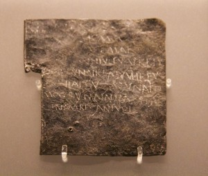 The Roman curse tablets from Bath Britain's earliest prayers. These tablets are inscribed on the UNESCO Memory of the World register of significant documentary heritage. They are the only documents from Roman Britain on that list. Complaint about theft of Vilbia - probably a woman. This curse includes a list of names of possible culprits. Perhaps Vilbia was a slave.