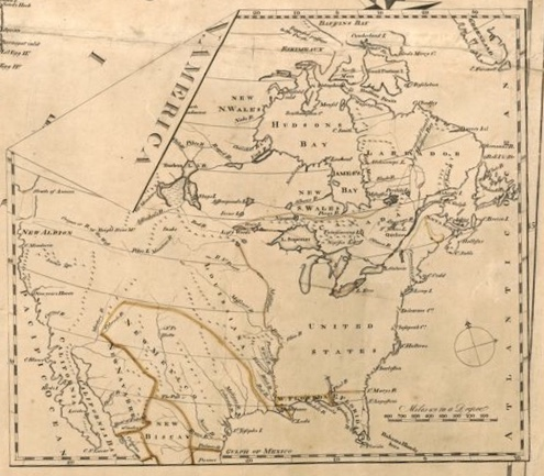 """Inset in the map """"The United States according to the definitive treaty of peace signed at Paris Sept. 3d. 1783. William McMurray, Robert Scot"""""""