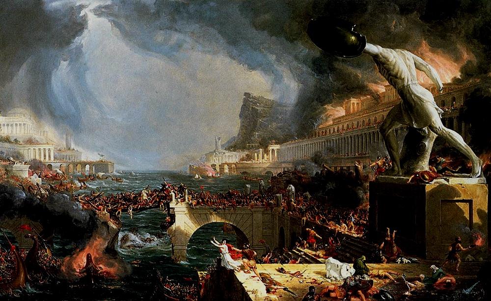Destruction, Thomas Cole, 1836