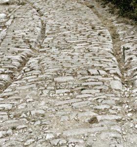 Roman road, Ambrussum, Via Domitia, France