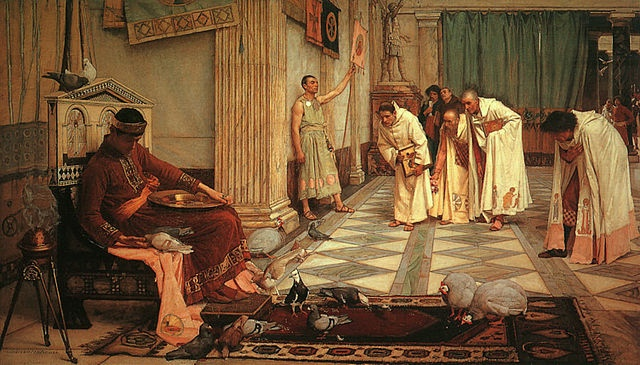 The Favourites of the Emperor Honorius, John William Waterhouse, 1883