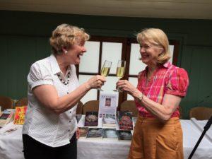 With critique partner Denise Barnes