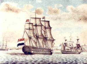 Dutch sailing ship circa 1813