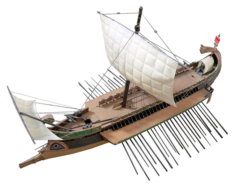 Roman bireme (Source: Wikipedia)
