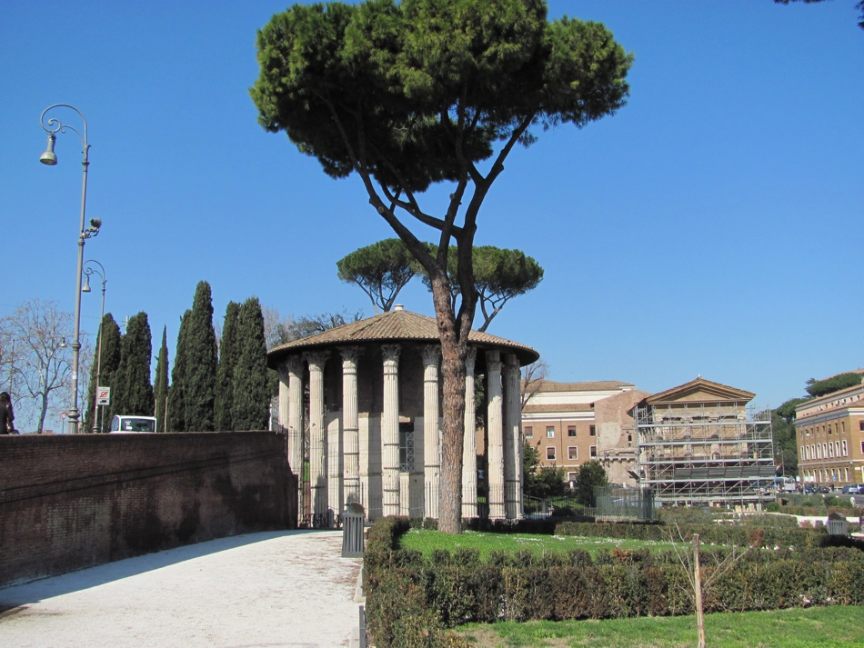 Temple of Hercules on the edge of the former Forum Boarium
