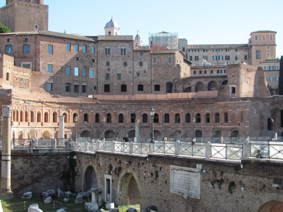 Trajan's Market with medieval additions above