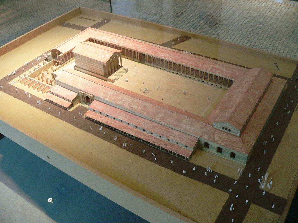 Model of forum of Lutetia, Musée Carnavalet