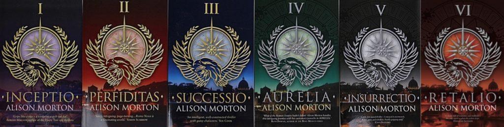 The original editions of the original two Roma Nova trilogies