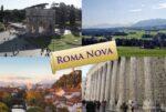 Four images of 'Roma Nova' arranged as a postcard